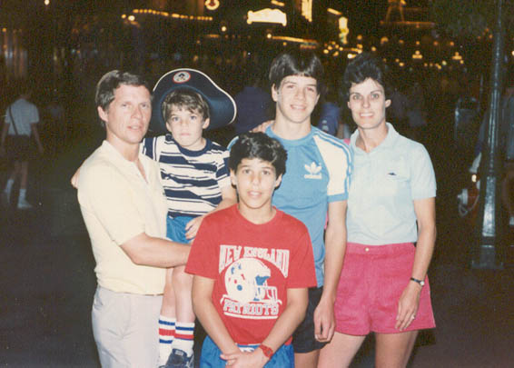 French Family at Disney World in 1986