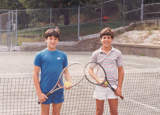 Matt and Peter in 1986 Tennis Tournament