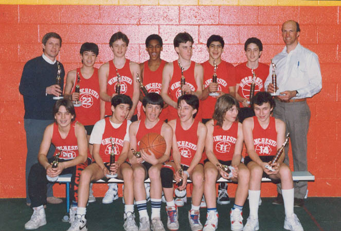 7th Grade Basketball Team in 1988