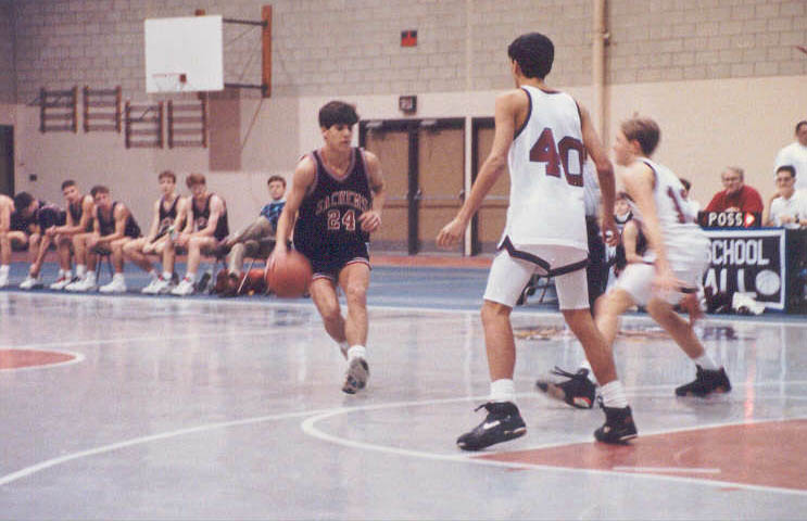 1991-1992 WHS Basketball at Belmont