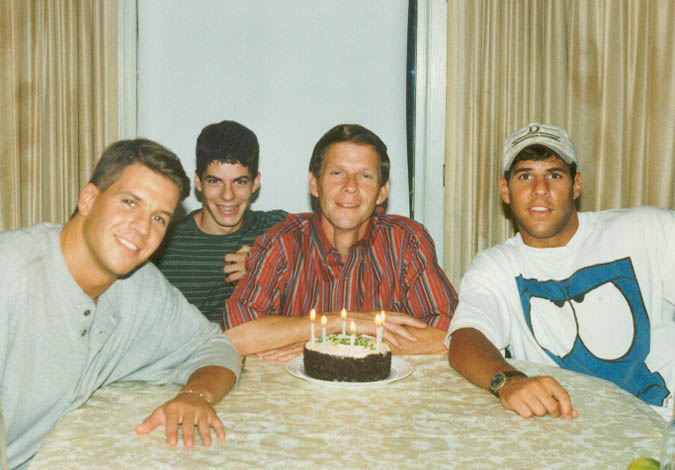 Vandy, Chris, Dad, and Pete in August 1996