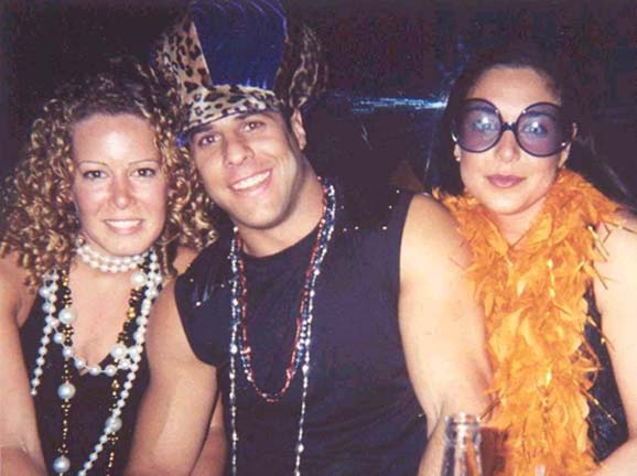 Vanessa, Pete, and Raquel at Dockside in 2001