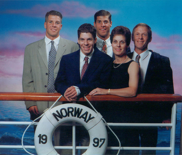 French family on the SS Norway in 1997