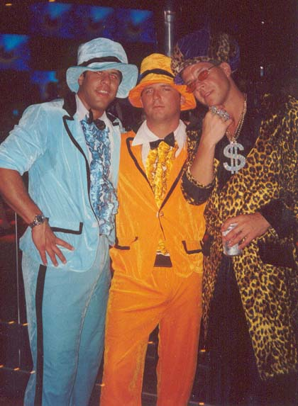 Pete, Dean, and Van pimpin' it up in March 2002